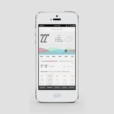 Moodcast Weatherfully Musical UI by Balraj Chana Ios App Design, News Web Design, Mobile Ui Design, Dashboard Design, Ux Design, Flat Design, Dashboard Interface, User Interface Design, Iphone Ui