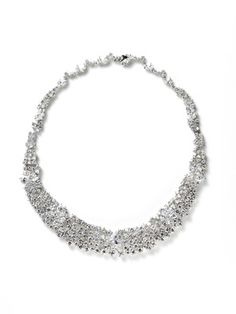 CZ by Kenneth Jay Lane  Delicate CZ Cluster Necklace  $269