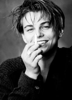 """Leonardo DiCaprio photographed by Greg Gorman, """"I worked with him from the very beginning of his career. I love Leo because he was never particularly caught up in being too masculine or too. Leonardo Dicaprio Smoking, Young Leonardo Dicaprio, Leonardo Dicaprio Quotes, Young Johnny Depp, Junger Johnny Depp, Leonardo Dicapro, Johny Depp, Young Actors, Young Celebrities"""