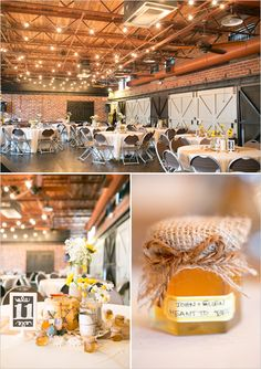 honey wedding favors www.AmalieOrrangePhotography.com Vintage yellow DIY wedding at Winter Park Farmers Market Florida