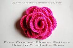 how to crochet a flower-crochet rose free crochet flower patterns