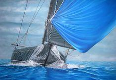 Η Χρύσα Δελλαπόρτα εκθέτει στο Ποσειδώνιο, στο πλαίσιο του Διεθνούς Αγώνα Κλασσικών Σκαφών Σπετσών Sailing Ships, Boat, Outdoor Decor, Dinghy, Boats, Sailboat, Tall Ships, Ship