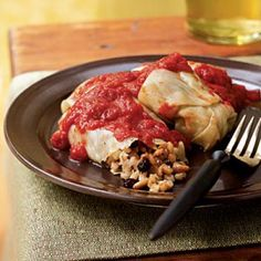 Barley-Stuffed Cabbage Rolls with Pine Nuts and Currants | CookingLight.com