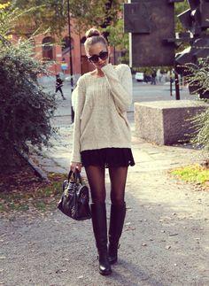 Knitted Jumper + Girly Skirt