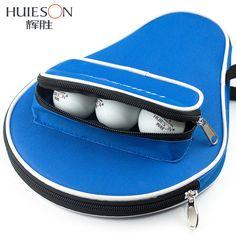 Huieson profesional oxford tabla raqueta de tenis case con bolsa de plástico exterior de pelotas de tenis de mesa tenis de mesa accesorios