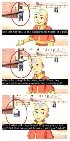 This is amazing! Avatar the last air bender  animation error!