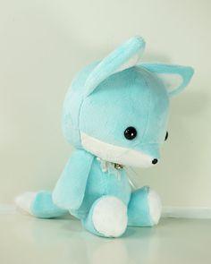 Cute Bellzi Stuffed Animal Teal w/ White Contrast by BellziPlushie, $35.00
