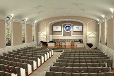 Small Church Sanctuary | Baptist Church Interior The cross baptist ...