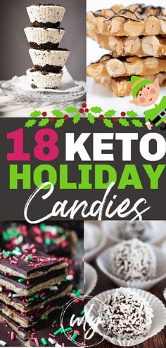 18 BEST Christmas candy recipes that make great low carb keto Christmas desserts. No need to skip keto Christmas cookies when you can enjoy these low carb holiday candy ideas. Keto Holiday, Christmas Desserts, Holiday Treats, Christmas Treats, Holiday Recipes, Holiday Candy, Christmas Cookies, Christmas Parties, Easy Christmas Candy Recipes