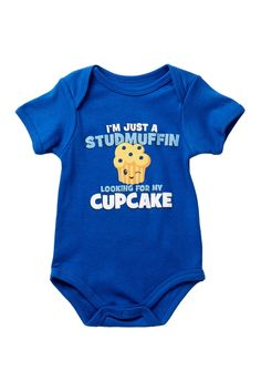 I Am Just A Stud Muffin Looking For My Cupcake Bodysuit (Baby Boys)