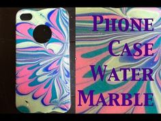▶ DIY: Water Marble Iphone Case ♡ Theeasydiy #PhoneCaseArt - YouTube