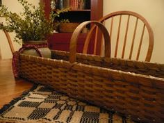 Log basket would look nice sitting on a dinning room table.