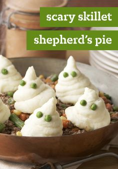 Scary Skillet Shepherd's Pie -- Call us crazy, but we think this Scary Skillet Shepherd's Pie recipe would be fun--and delicious--to eat any time of year!