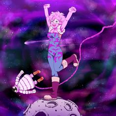 Boku no Hero Academia    Thirteen, Mina Ashido.