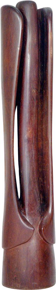 Paulo Laender - FLORAÇÃO - escultura em madeira (sucupira) - data 1982 - dim diam 40 x 220 cms