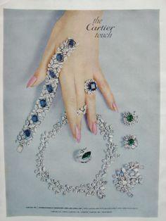 Fabulosity! Cartier sapphire & diamond necklace bracelet ring earrings ooh la la #vintage #jewelry #ad
