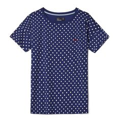 Fred Perry Polka Dot T-Shirt<p>Medieval Blue