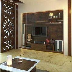 20 Living Area Designs with Fire Places Wooden Partition Design, Tv Wall Design, Ceiling Design, Door Design, Tv Unit Furniture, Living Room Tv Unit Designs, Pooja Room Design, Tv Wall Decor, Interior Architecture