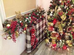Christmas tree decorating ideas. Craft.
