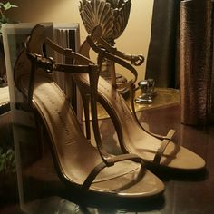 Chinese Laundry T strap nude heels! Worn only once, nude t strap 4 inch heels, box included. Chinese Laundry Shoes Heels