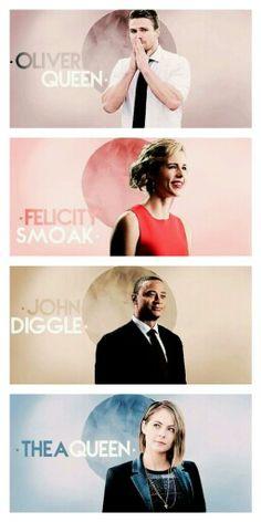 Team Arrow - Oliver Queen - Felicity Smoak - John Diggle - Thea Queen