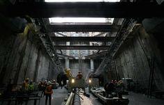 Building ight rail tunnel