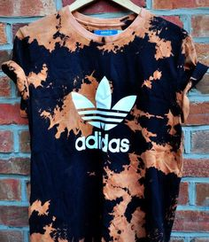 Bleach tie dye - love it on the addidas shirt too!