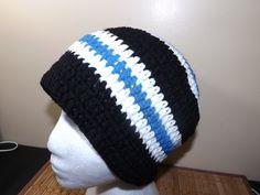 men's striped crochet hat video tutorial