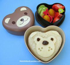 Bento School Lunches: Bear Bento in A Cute Bear Box by CasaBento