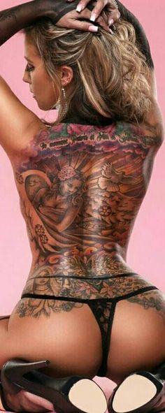 70 Majestic Wolf Tattoos For True Free Spirits Tattoo Girls, Sexy Tattoos For Girls, Inked Girls, Girl Tattoos, Tattoos For Women, Hot Tattoos, Body Art Tattoos, Looks Style, Back Tattoo