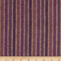 Primo Plaids Flannel Yarn Dyed Herringbone Stripes Plum/Burgundy