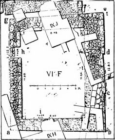 """Budynek VI F (from: """"Mycenaean Troy, based on Dörpfeld's excavations in the sixth of the nine buried cities at Hissarlik"""" 1903)"""