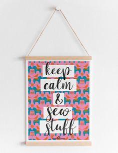 keep calm and sew stuff #meesundmees #lettering #word #printable #freeprintable #keepcalm