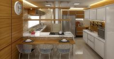 Cozinha Cooktop com Bancada