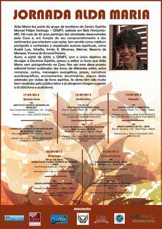 Jornada Alda Maria (CEMFS) - RJ - http://www.agendaespiritabrasil.com.br/2015/09/12/jornada-alda-maria-cemfs-rj/
