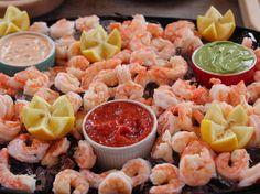 Shrimp Cocktail Bar: Classic Cocktail Sauce, Avocado Crema, Remoulade recipe from Ree Drummond via Food Network