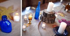 Country wedding table decorations