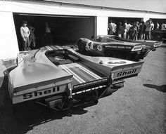 Two Porsche 917Ks at the 1971 24 Hours of Daytona, both 917s would DNF after an accident involving the Ferrari 512M of Mark Donohue.