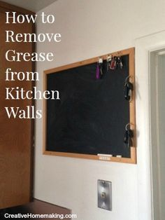 natural, frugal way to clean grease off a ceiling - whoo-hooo