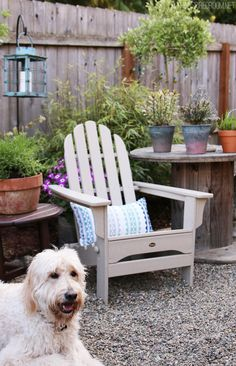 Creating a charming backyard corner - The Inspired Room