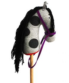 Hobby-Horse - Red (Wooden with Pure Cashmere & Wool) Family Nation