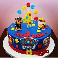 Cumple número 4 de ciro Best Picture For Birthday Cake flavors For Your Taste You are looking for something, and it is going to tell you exactly what you are looking for, and you didn't find that pict Toddler Birthday Cakes, 4th Birthday Cakes, Purple Birthday, 2nd Birthday, Paw Patrol Torte, Paw Patrol Birthday Theme, Birthday Cake Flavors, Cakes For Boys, No Bake Cake