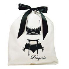Lingerie bag 100% cotton.