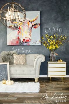 How to create a dramatic chalkboard wall on a budget. #dododsondesigns #chalkboard #chalkboardwall