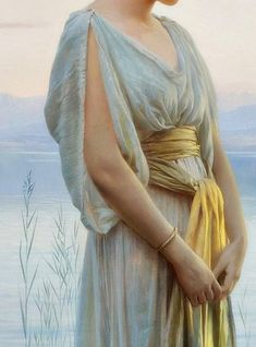 Traveling through history of Art...Evening by the Lake, detail, by Max Nonnenbruch (1857-1922).