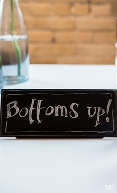 These chalk board signs are so versatile! Add any message you'd like to personalize your wedding even further.