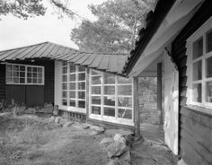 Knut Knutsen: Own summer house, Portør, 1949 Architecture Today, Architecture Magazines, Interior Architecture, Usonian House, Garden Pavilion, American Houses, Danish Modern, Mansions, House Styles
