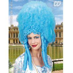 blue bovary wig