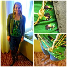 Layers and beautiful jewelry - can you believe she's living out of a suitcase?