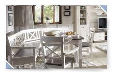 Eckbankgruppe Kiefer massiv weiß grau Eckbank 227x150 Bank LINEA Landhaus modern in Möbel & Wohnen, Möbel, Tisch- & Stuhl-Sets | eBay